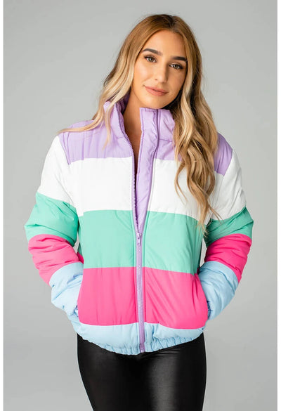 Buddy Love Lisa Puffer Jacket-Pastel