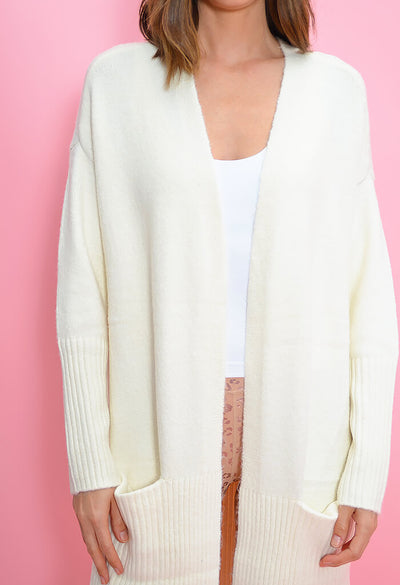BB Dakota What's the Stitch Cardigan-Ivory