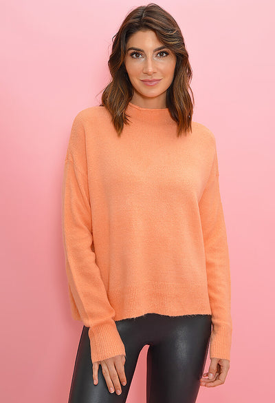 Minkpink Warm Feelings Sweater-Peach