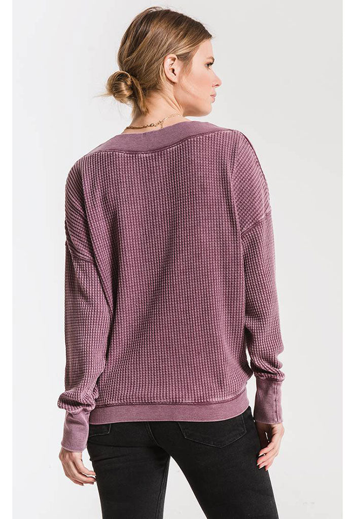 The Emilia Thermal Top-Mauve