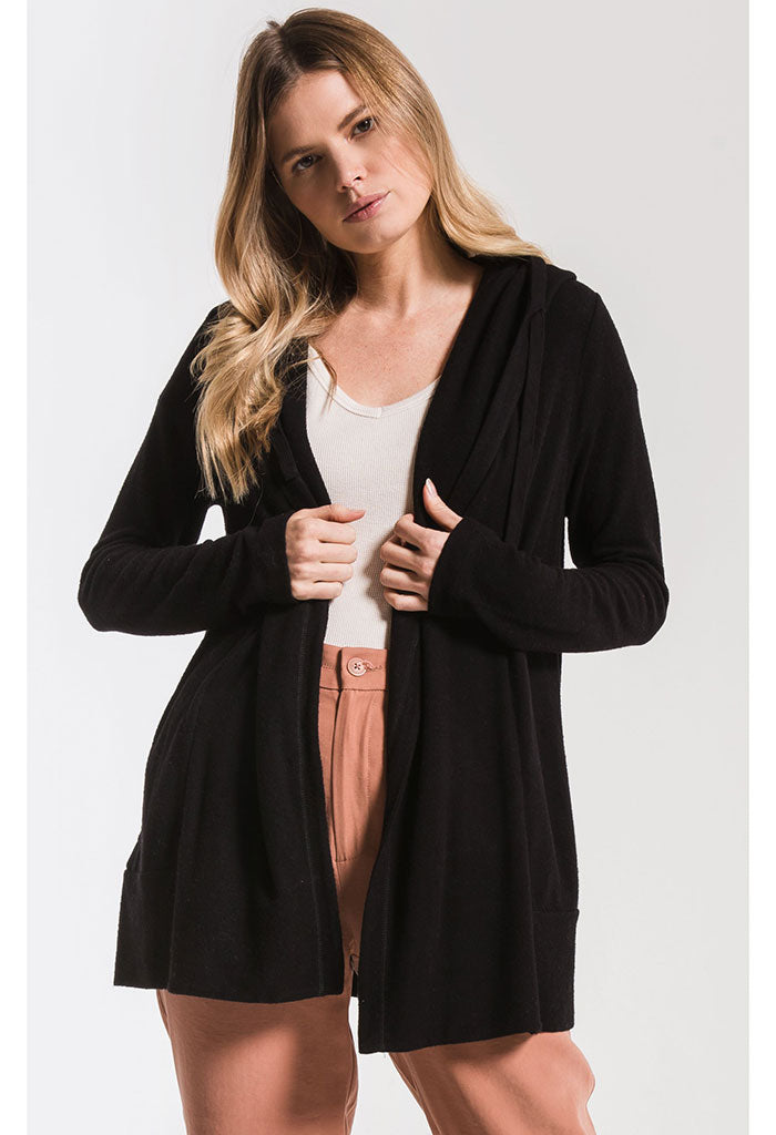 The Sweater Knit Cardigan-Black