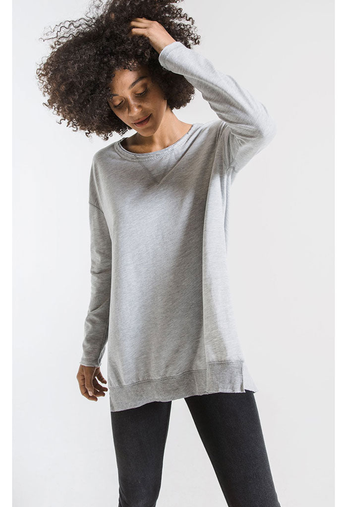 The Weekender Sweater-Heather Grey