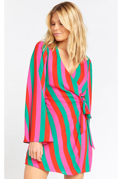Caleb Mini Dress-Feliz Stripe