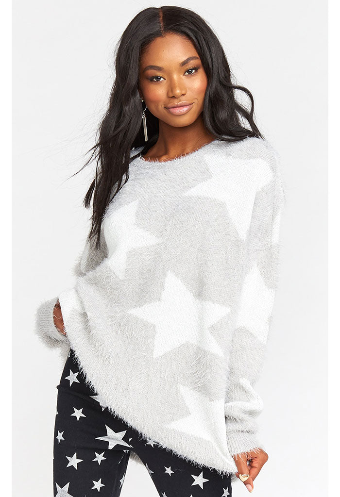 Leighanne Sweater-Fuzzy Star Knit