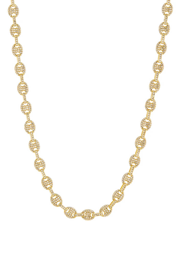 LUV AJ Pave Mariner Chain Necklace