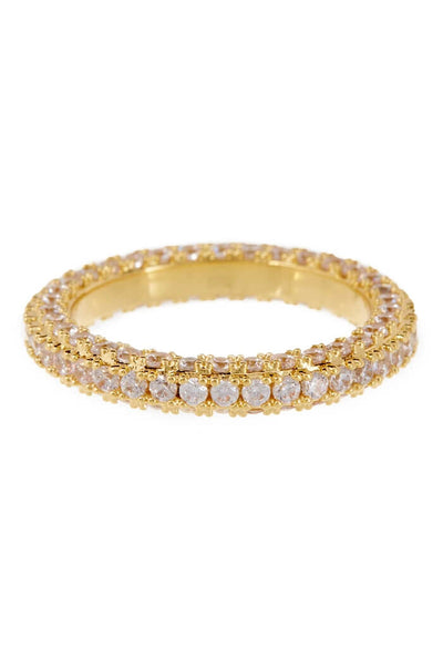LUV AJ Pave Triple Band Ring-Gold