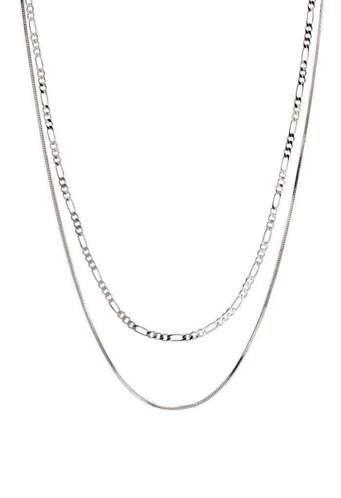 LUV Aj Cecilia Chain Necklace-Silver