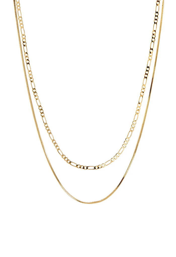 LUV AJ Cecilia Chain Necklace-Gold