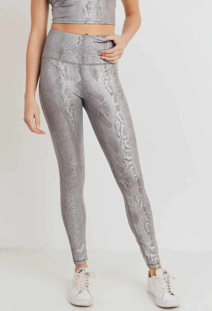 KK Bloom Silver Snake Leggings