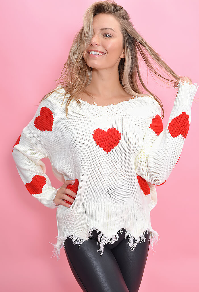 KK Bloom Dream On Sweater-Red