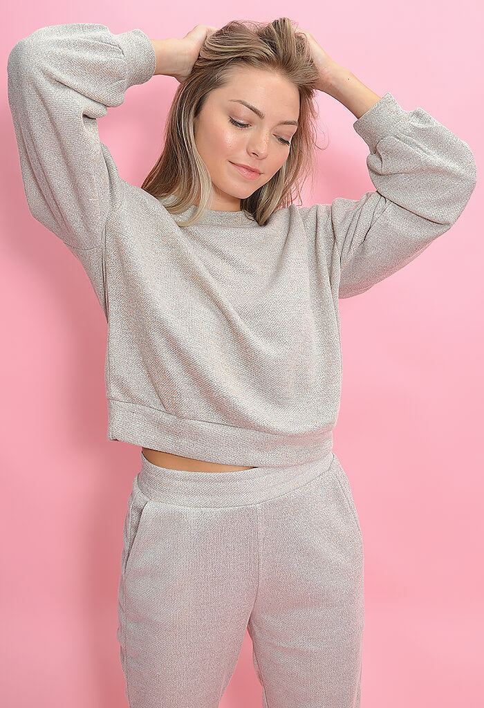 Cupcakes & Cashmere Heidi Sweatshirt-Heather Grey