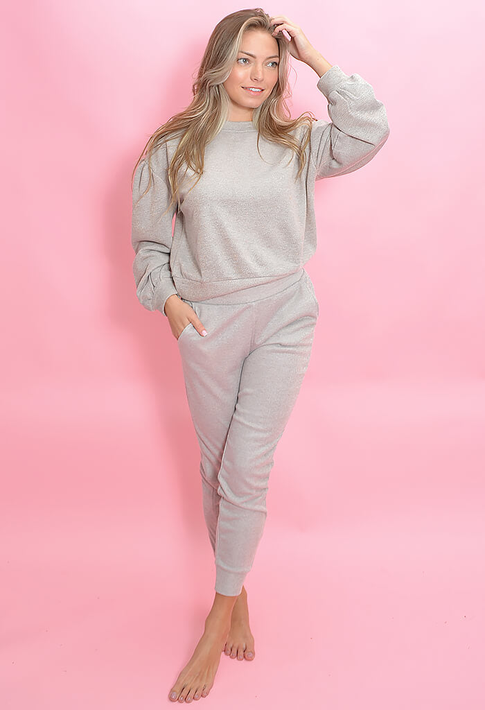 Cupcakes & Cashmere Juno Pant-Heather Grey