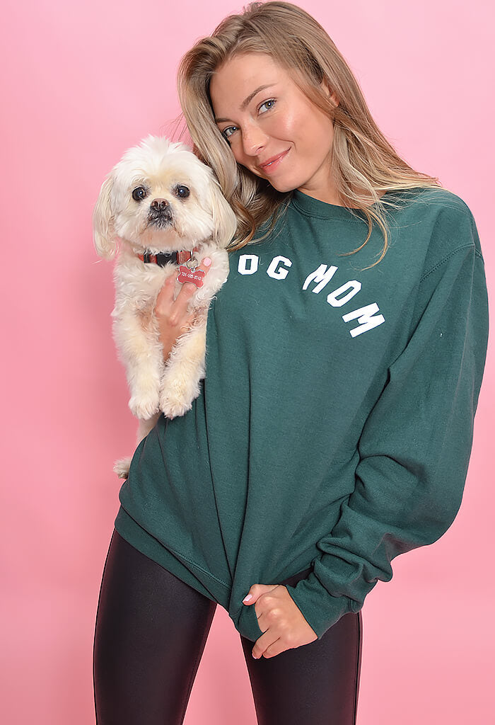 KK Bloom Dog Mom Sweatshirt-Green