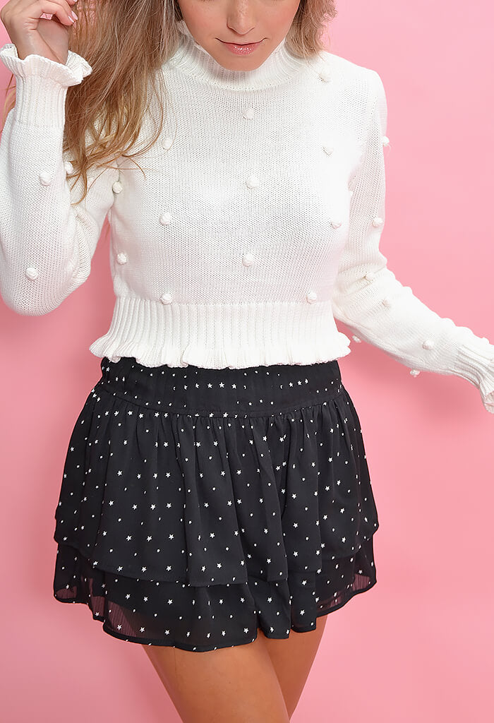 KK Bloom Starry Night Mini Skirt