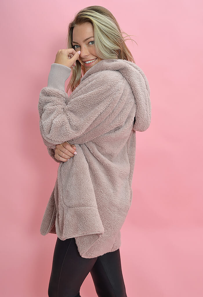 KK Bloom Cuddle Bunny Jacket-Mauve