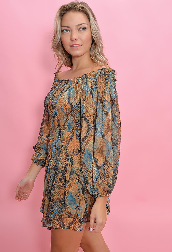 KK Bloom Zoe Dress-Snakeprint