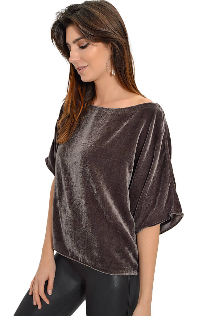 Lavender Brown Mink Blouse - KK Bloom Boutique