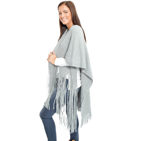 Layover Poncho- Grey