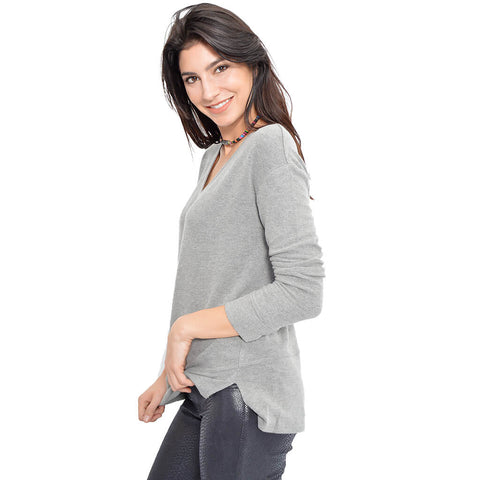 Fran Sweater-Heather Grey