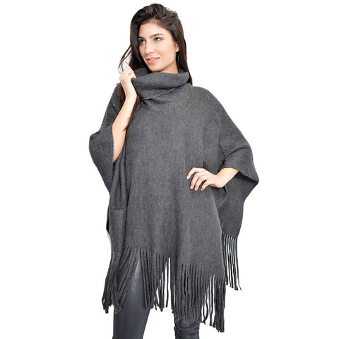 The Everything Poncho- Charcoal