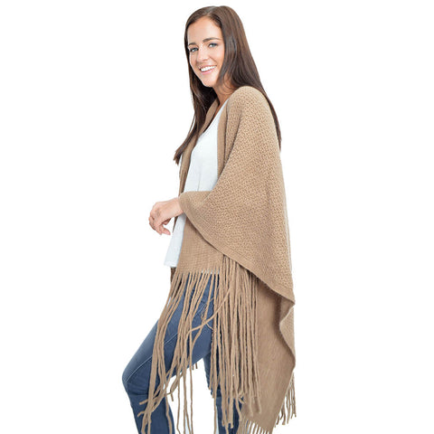 Layover Poncho-Brown
