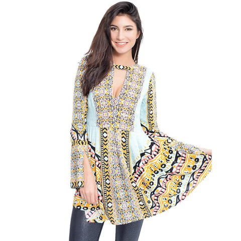 Tegan Border Print Tunic
