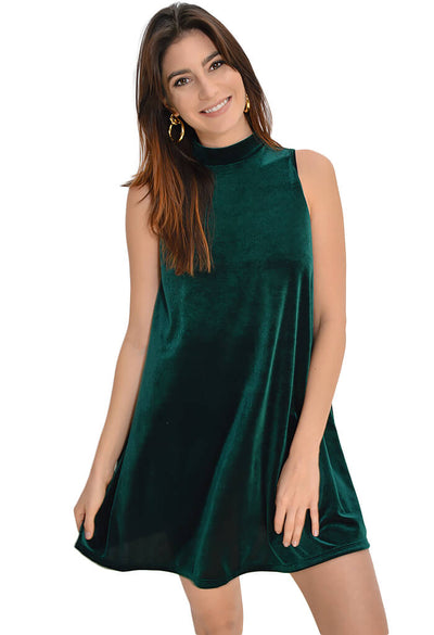 Adrienne Jewel Swing Dress in Emerald - KK Bloom Boutique