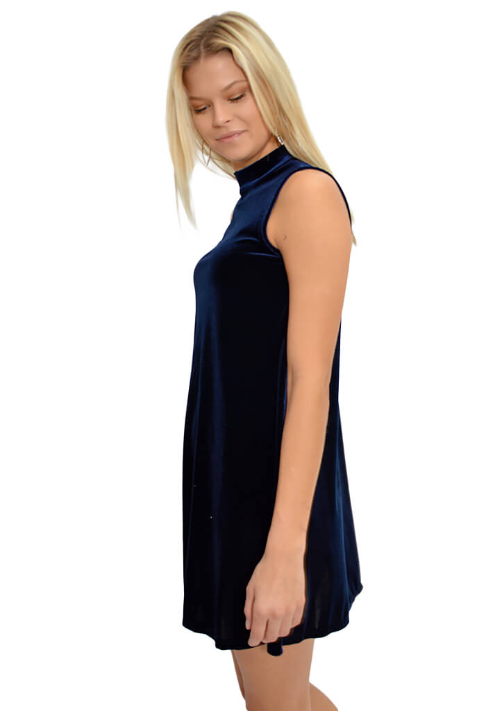 Adrienne Jewel Swing Dress in Sapphire-KK Bloom Boutique