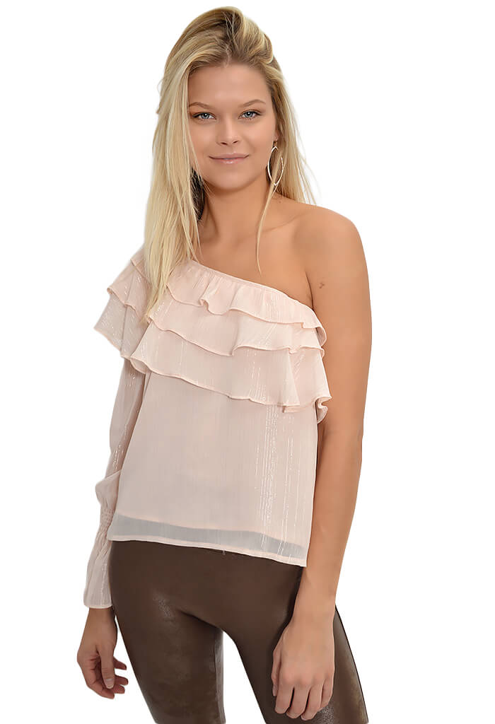 JOA Tiered Ruffle Top-KK Bloom Boutique