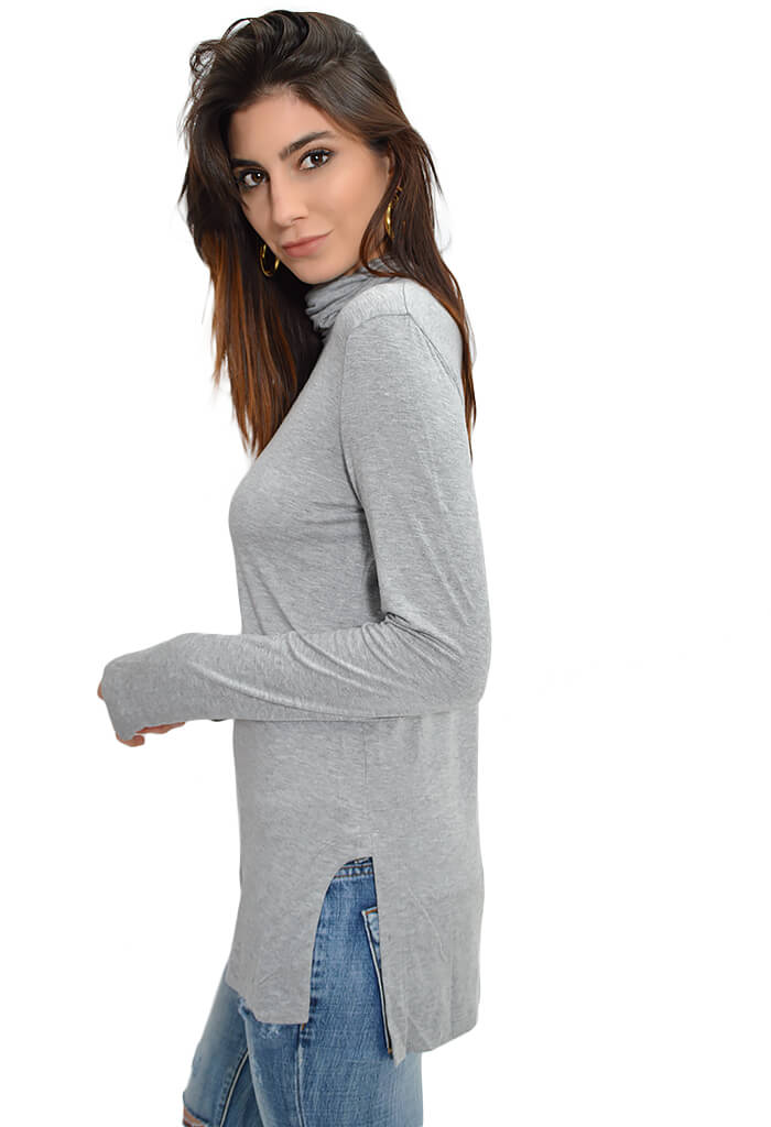 Snow Bunny Turtleneck - Grey