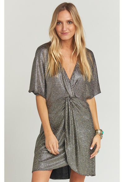 Get Twisted Mini Dress ~ Disco Glitz