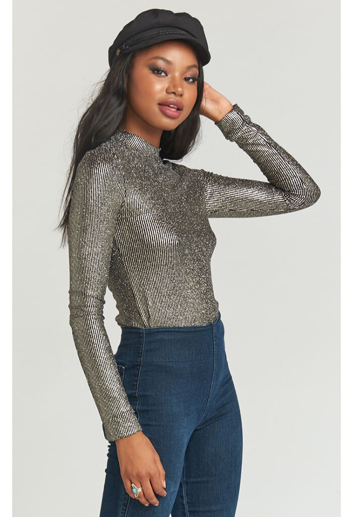Delaney Top ~ Disco Glitz