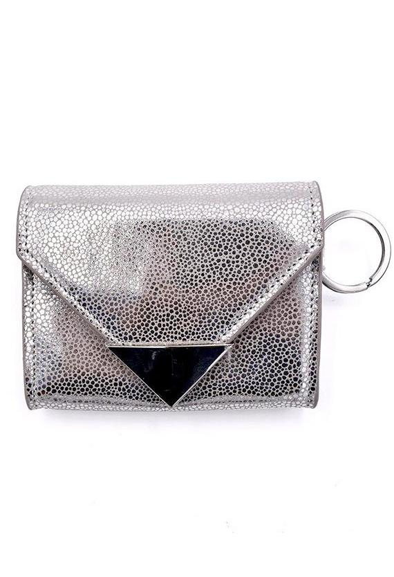 Policy Handbags The Future Wallet Keychain- Silver Stingray