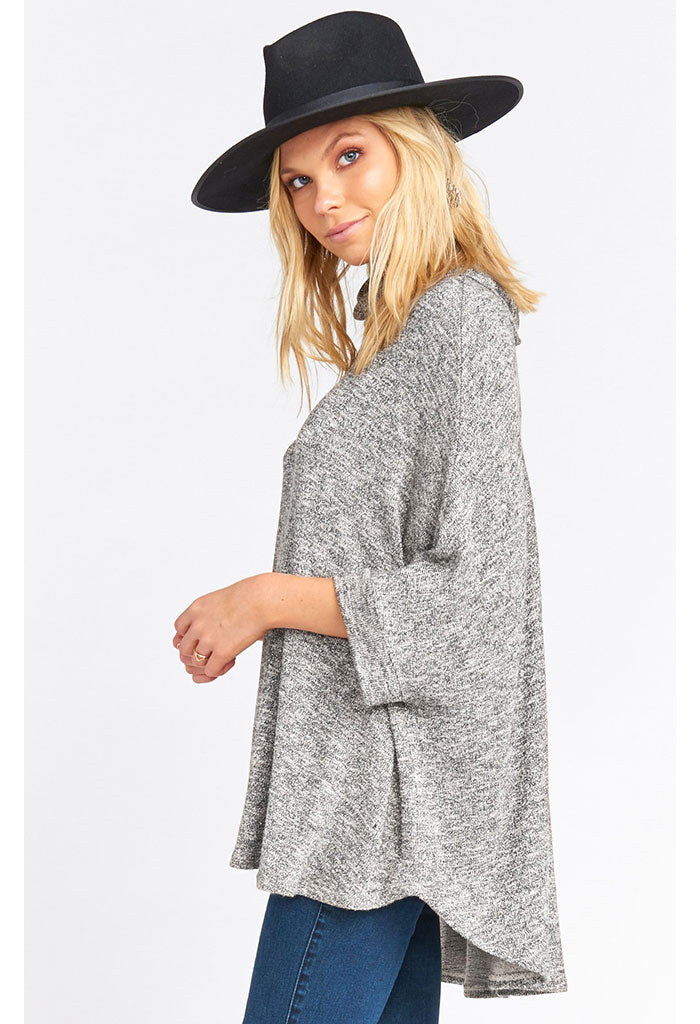 Yuri Poncho-Mountaintop Sweater Knit