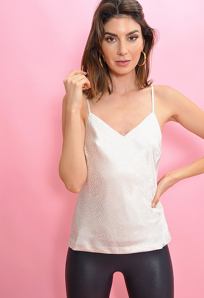 Cupcakes & Cashmere Farrah Top-Birch White