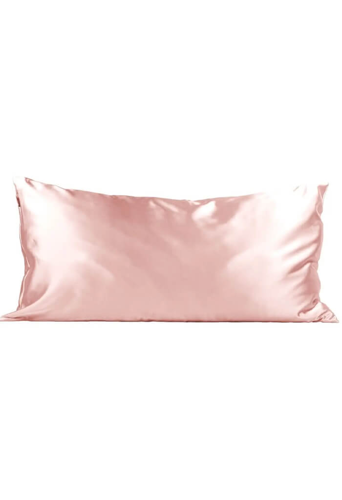 Kitsch Satin King Pillow Case-Blush