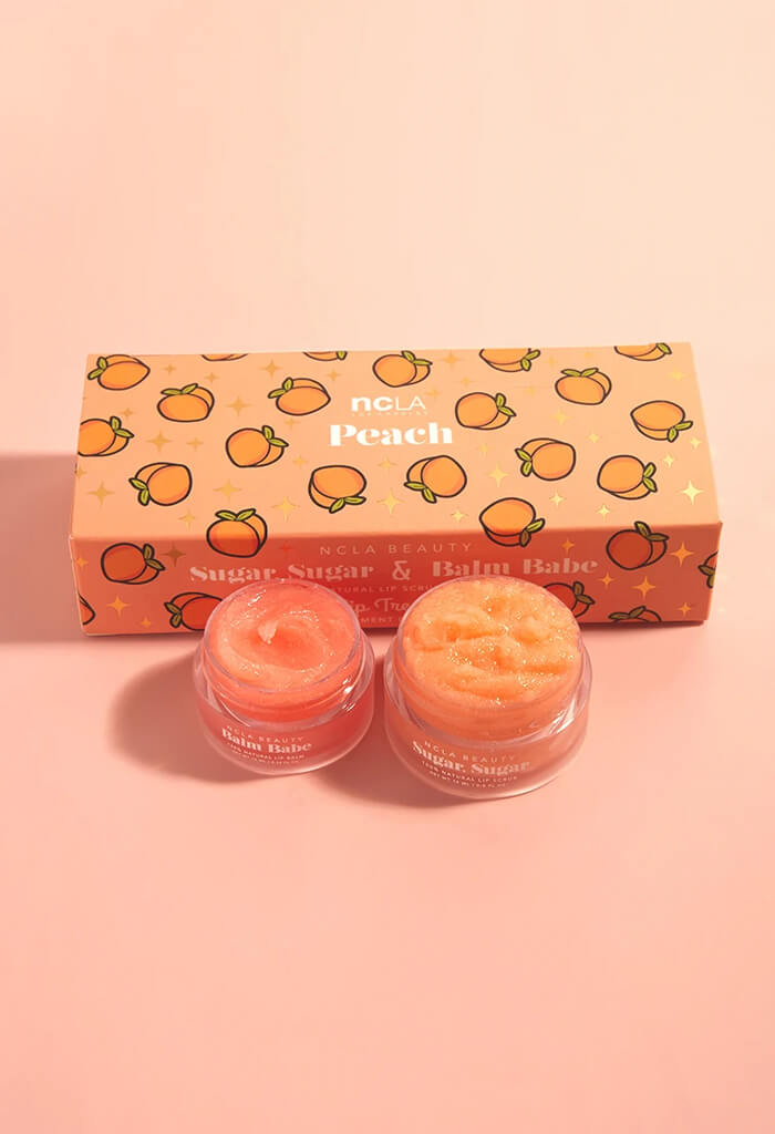 NCLA Beauty Peach Lip Care Duo