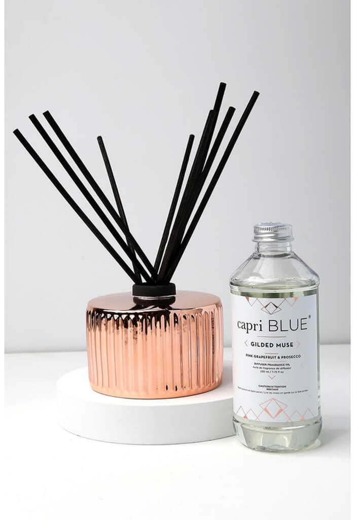Pink Grapefruit and Prosecco Rose Gold Reed Diffuser