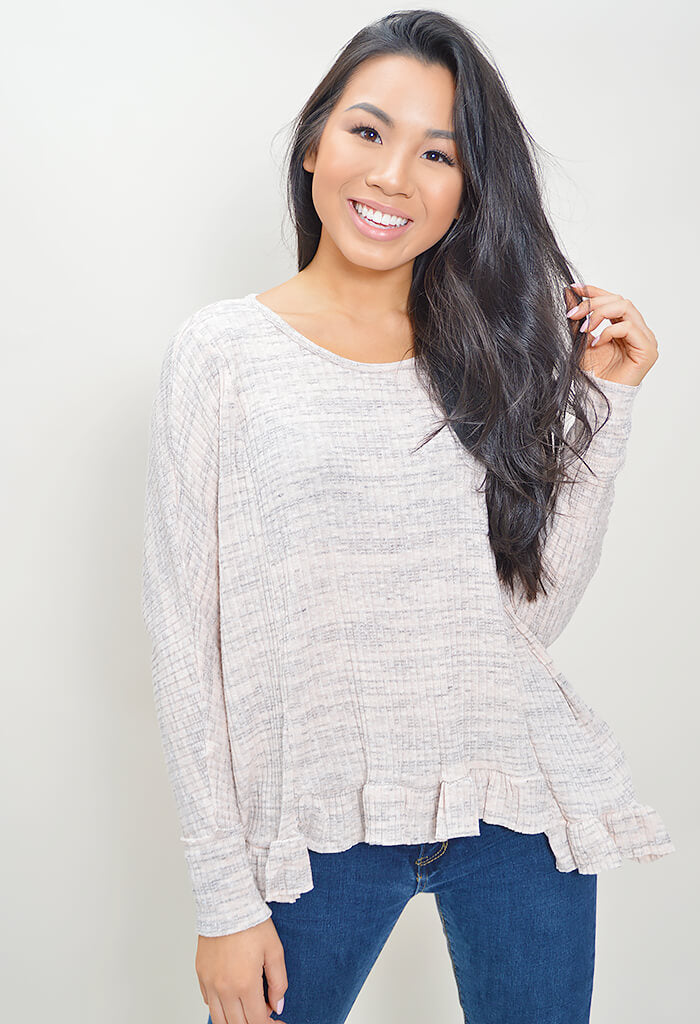 Static Ruffle Top