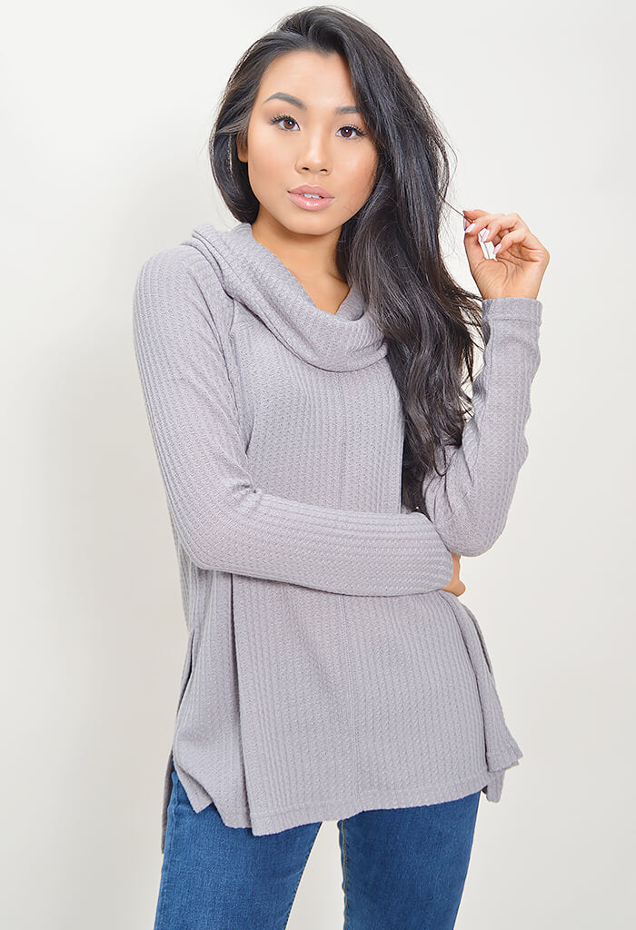 House of Waffles Top - Grey