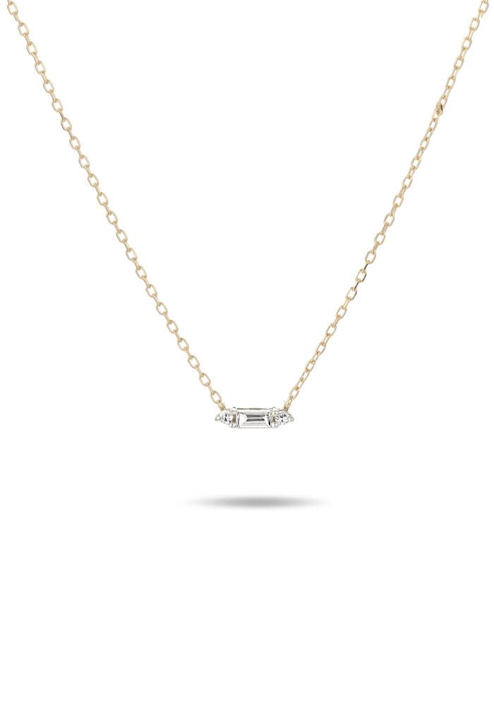 Adina Reyter Single Stack Baguette Necklace-14k yellow gold