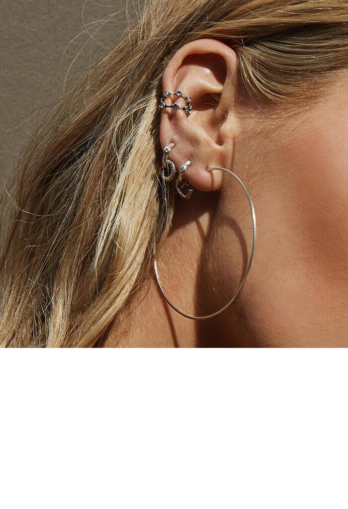 Luv AJ Capri Wire Hoops-Silver-KK Bloom Boutique