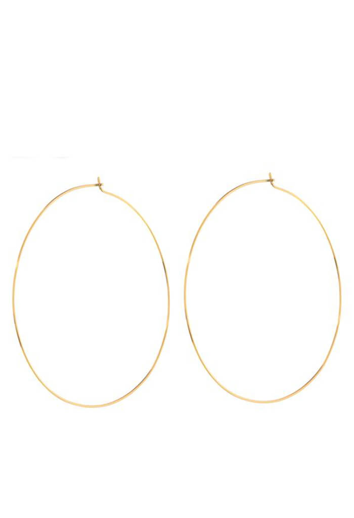 LUV AJ XL Capri Wire Hoops-Gold-KK Bloom Boutique