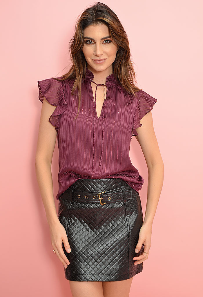 Shelly Pu Quilted Skirt