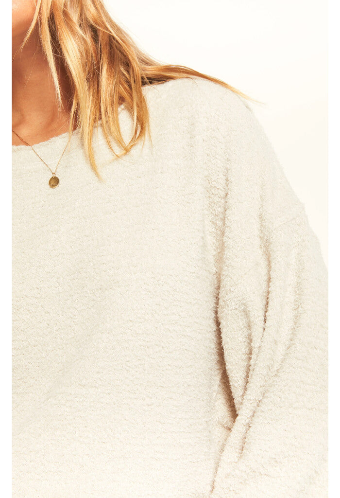 Z Supply Storm Skimmer Sweatshirt-Ivory
