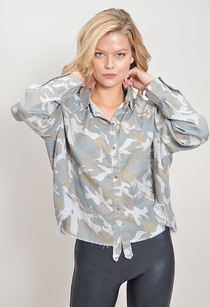 Twinkle Burnout Buttondown