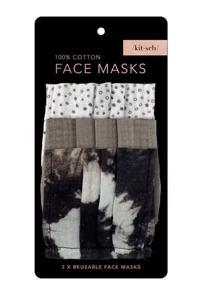 Kitsch Cotton Mask 3 Piece Set-Neutral