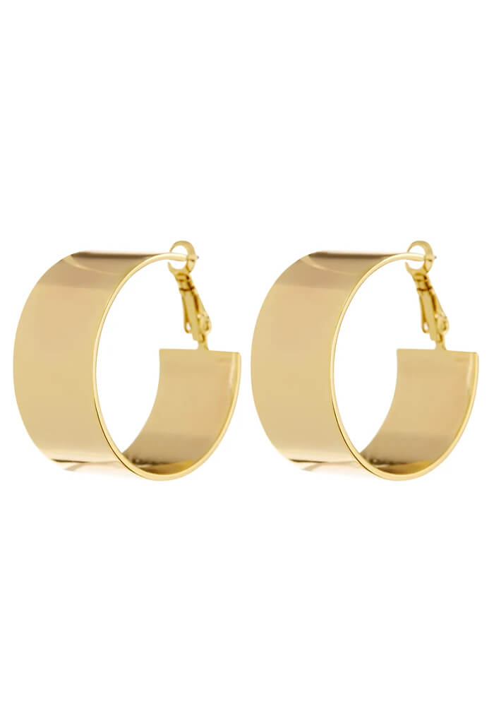 LUV AJ XL Positano Hoops-Gold