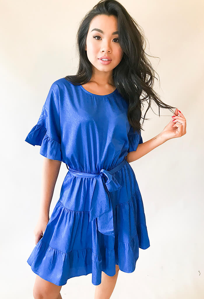 Comet Blu Ruffle Dress