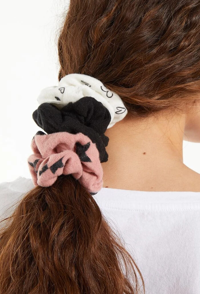 Z Supply Hearts & Stars Scrunchies 3 Pack